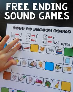 These free ending sound games are great for kids in kindergarten and first grade. Kids roll a die and use the key at the top to know where to move. Since they have to say each picture's name as they move to find the right one, they do a lot of learning in a short amount of time! #phonics #kindergarten #firstgrade #endingsounds