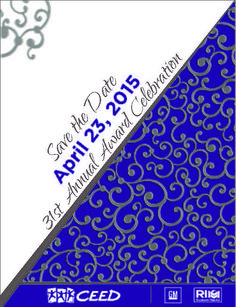 SAVE THE DATE - 31st Annual Award Celebration, April 23, 2015 at Suburban Collection Showplace
