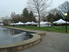 Canopies & a tent with side walls for Philadelphia's Cherry Blossom Festival