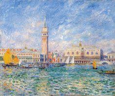 Pierre Auguste Renoir, Vista de Venecia (El Palacio Ducal) 1881, óleo sobre lienzo, 54 × 65 cm