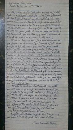 Mi familia viaja 800Km para visitarme en El Helicoide: Carta de Juan Giraldo al…