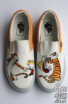 I. Am. DYING. This artist does AMAZING hand-painted shoes!    Shoes For Oliver by ~BBEEshoes