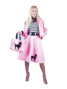 Halloween Adult Plus Pink Poodle Costume (dress)