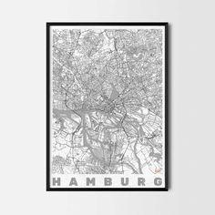 Hamburg art prints - City Art Posters and prints Cool wallart billig reise Geschenk Reise Poster plakat drucken cheap travel gift travel poster plakat print