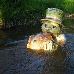 Vodník Water Drip, Zentangle, Underwater, Creatures, Mugs, Flowers, Zentangle Patterns, Under The Water, Tumblers