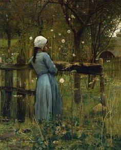'Chica en un Prado' (1880) de William Stott (1857-1900)