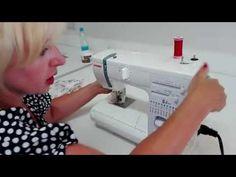 KURZY ŠITÍ- jak seřídit stroj a párání overlocku a rovnostehu - YouTube