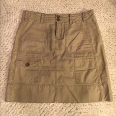 """Anthropologie Cargo Skirt Anthropologie Cargo skirt by """"Paper Boy"""": Size: 2, Material: 100% Cotton, Measurements: 19 inches long, Condition: NWOT. Anthropologie Skirts"""