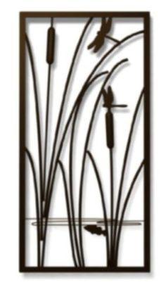 Metal-Wall-Art-Cattails-Dragonflies-Nature-Home-Decor-Modern-Hanging-Sculpture      http://www.ebay.com/itm/231687710405