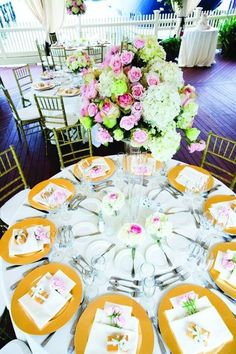 BEAUTIFUL table settings at this lovely venue overlooking a marina! {The Regatta Place}