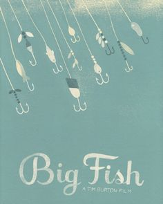Big Fish - movie poster Minimalist Poster Design pretty much the cutest couple ever. Minimal Movie Posters, Film Posters, Cinema Posters, Big Fish Movie, Tim Burton Films, I Love Cinema, Alternative Movie Posters, Film Serie, Minimalist Poster