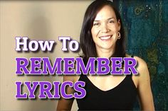 Three super effective methods to help you easily remember lyrics and get them to stick. Vocal Lessons, Singing Lessons, Singing Tips, Music Lessons, Singing Quotes, Remember Lyrics, How To Remember, Singing Techniques, Vocal Exercises
