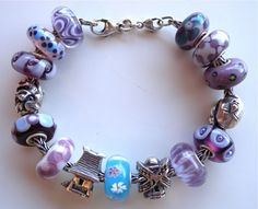 I simply ADORE the Sacred House & Sakura beads on this purple bracelet!!! <3 <3 <3  #trollbeads #japan #sakura