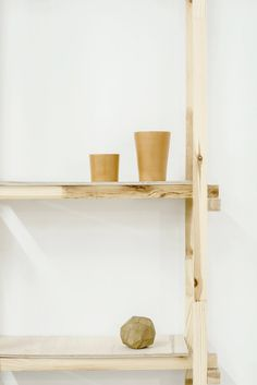 Crooked Nose & Coffee Stories is a minimal coffeehouse with a natural and simple aesthetic located in downtown Vilnius, Lithuania, designed by Inga Pieslikaite.