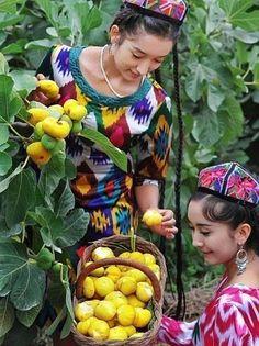 Uyghur women.