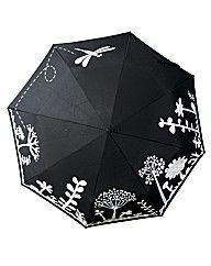 Cool umbrella which changes colour when it rains!