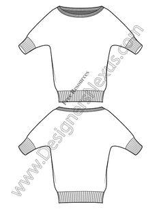 V12 Vector Sweater Sketch Free Illustrator Fashion Technical Flats