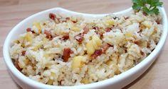 Potato Salad, Bacon, Grains, Paleo, Food And Drink, Healthy Recipes, Healthy Food, Rice, Potatoes