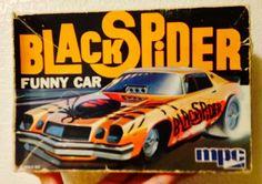 Black Spider Camaro Camaro Models, Chevy Models, Model Cars Kits, Kit Cars, Vintage Models, Old Models, Car Box, Monogram Models, Plastic Model Cars