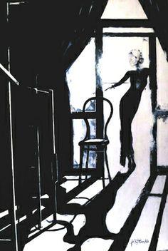 "Saatchi Art Artist Janel Eleftherakis; Painting, ""Playing the Blues #4"" #art"