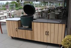 outdoor kitchen-big-green-egg - outdoor kitchen-big-green-egg - - Expolore the best and the special ideas about Big green eggs Big Green Egg Outdoor Kitchen, Big Green Egg Table, Big Green Egg Grill, Diy Outdoor Kitchen, Green Eggs, Patio Kitchen, Table Bbq, Grill Stand, Kamado Grill