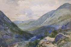 """Crawford Notch from Mount Willard,"" Frederic Marlett Bell-Smith, 1895, watercolor, 13 1/4 x 19 1/2"", private collection."