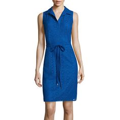 jcpenney.com | London Style Collection Sleeveless Lace Shirtdress