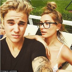Moving on: Justin has most recently been linked to Hailey Baldwin, the pair both touching ...