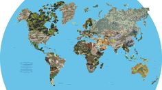 24. Los diversos patrones de camuflaje del mundo: | 25 Mapas que te harán ver el mundo de otra manera