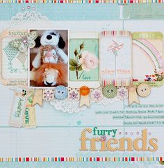 Furry Friends - Websters Pages - Sunday Picnic Collection
