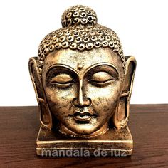 R$ 29,90 Cabeça de Buda Grande Dourada 17cm