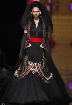 Breaking boundaries: Drag queen, Conchita Wurst closed the Jean-Paul Gaultier show at the couture shows in Paris