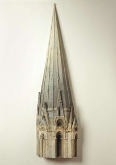 Spire, Chartes Catherdral, 60 x 17 x 5, wood, wax, plaster, oil paint, Richard Bunkall, 1988