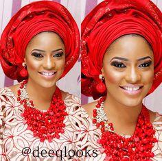Nigerian Traditional Bride   Makeup: DeeQ Looks  www.loveweddingsng.com