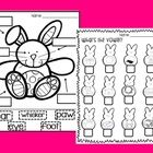 Free! Label the bunny and vowel peeps!  Fun Reinforcer.