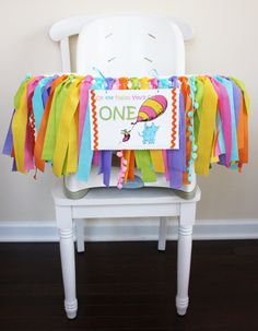 My Little BooBug Highchair banner. Oh the Places You'll Go!