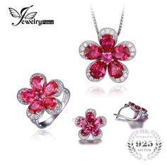 Gleaming Created Ruby Flower Shape Ring Pendant Earring Jewelry Set 925 Sterling Silver Fine Jewelry for women    0.00, 182.99  Tag a friend who would love this!     FREE Shipping Worldwide     Buy one here---> http://liveinstyleshop.com/jewelrypalace-gleaming-created-ruby-flower-shape-ring-pendant-earring-jewelry-set-925-sterling-silver-fine-jewelry-for-women/    #shoppingonline #trends #style #instaseller #shop #freeshipping #happyshopping