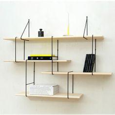 Etagère Setup1 Frêne/Noir - Studio Hausen