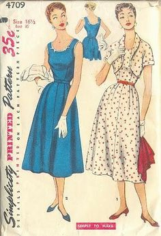 Boongoggle: Vintage Simplicity 4709 and more photos of Socialite Dress