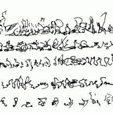 "Henri Michaux, ""Narration"" - Asemic writing"