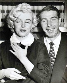 Marilyn Monroe and Joe DiMaggio's wedding day, January 14th 1954.