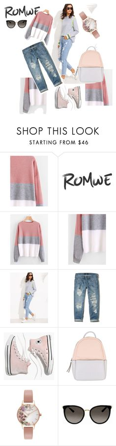 """Romwe #002"" by sana-fashion ❤ liked on Polyvore featuring Hollister Co., Madewell, Calvin Klein, Olivia Burton and Gucci"
