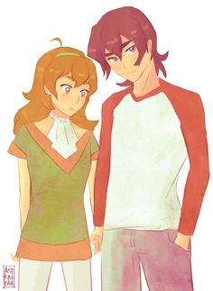 Keith and Pidge (Katie Holt) from Voltron Legendary Defender