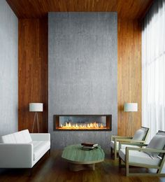 Fireplace Design Ideas contemporary living room idea with a tile fireplace surround 56 Clean And Modern Showcase Fireplace Designs
