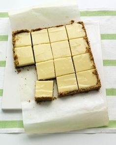 Lime Squares with Pistachio Graham-Cracker Crust Recipe | http://aol.it/NpfNWq
