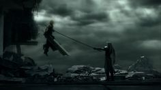 Cloud vs Sephiroth - final-fantasy-vii Screencap