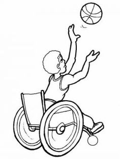 Basketball Game Competition Disabled Day Coloring Pages - Disabilities day Coloring Pages : KidsDrawing – Free Coloring Pages Online Sports Coloring Pages, Online Coloring Pages, Colouring Pages, Free Coloring, Coloring Pages For Kids, Coloring Books, Five Senses Preschool, Basketball Games Online, Toys From Trash