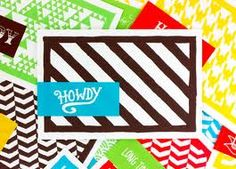 patterned cards