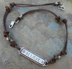 Believe Hand Stamped Jewelry via Etsy.