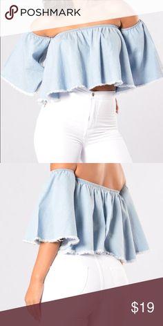 Denim Top Cute Fashion Nova Tops